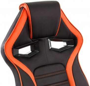 Компьютерное кресло Woodville Monza черное / оранжевое 2