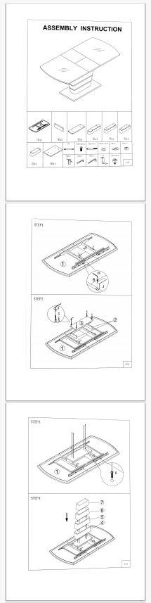 Стол Woodville Space бежевый инструкция 1