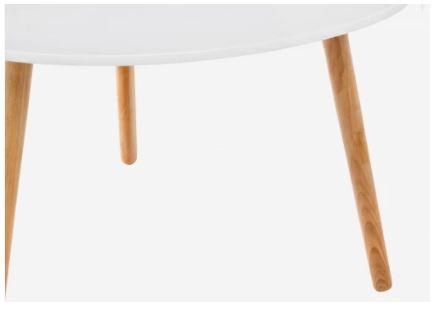 Журнальный столик Woodville Hofer белый 3