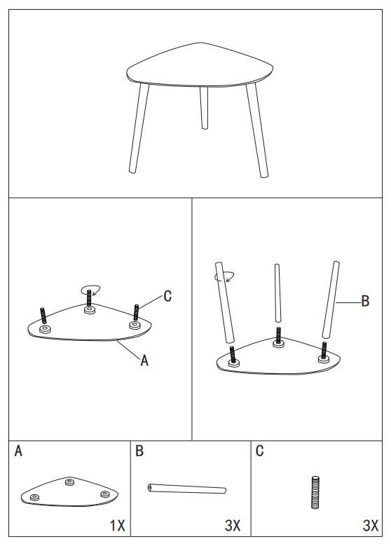 Журнальный столик Woodville Hofer белый инструкция
